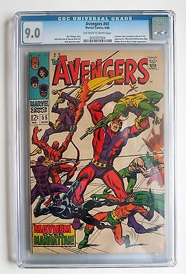 AVENGERS #55 - 1968 - CGC 9.0 VF/NM - 1ST APPEARANCE of ULTRON