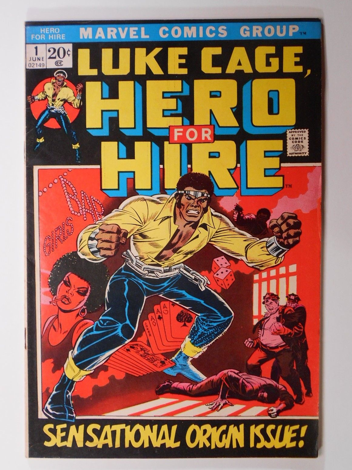 LUKE CAGE, HERO FOR HIRE 1 (Marvel 1972) KEY #1 Origin Issue Netflix - Power Man