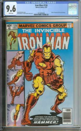 IRON MAN #126 CGC 9.6 WHITE PAGES