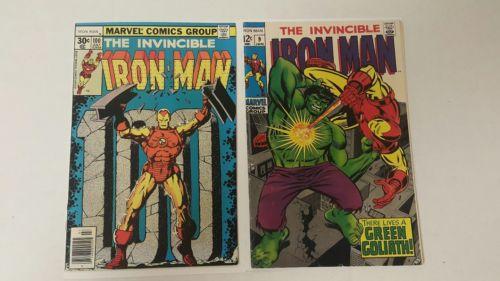Iron Man #9 (Jan 1969, Marvel), Iron Man 100, Midgrade lot of Key Issues