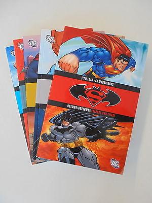 5x Batman/Superman -Freunde und Feinde Nr.1-5 Sammelband (2006) DC Panini Comic