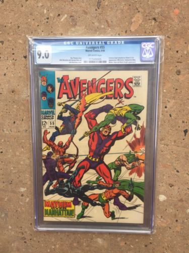 AVENGERS 55 CGC 9.0  AWESOME KEY  GREAT INVESTMENT