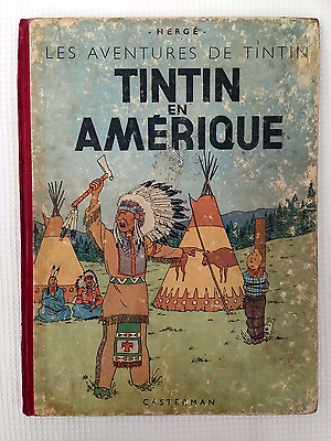 TINTIN EN AMERIQUE - EO couleur 1946 - B1