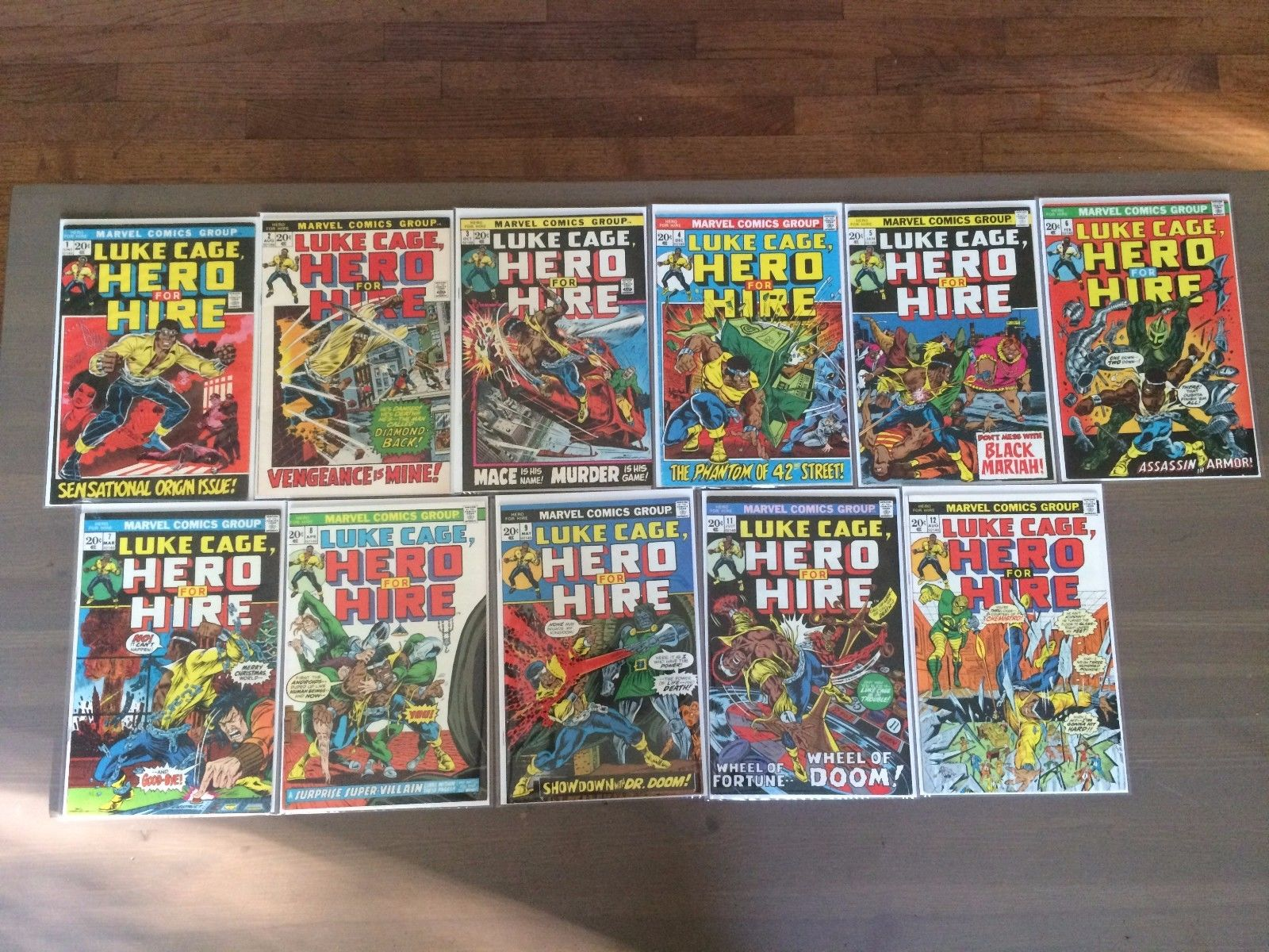 Marvel HERO FOR HIRE # 1 -12 *FIRST LUKE CAGE - HIGH GRADE - 11 ISSUE LOT*