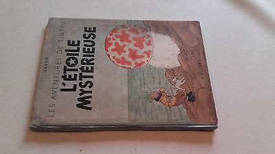 rare ancien album Hergé tintin l'étoile mystérieuse monocolonne B1 de 1946