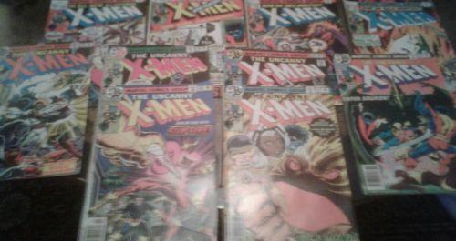vintage uncanny x-men comic lot #110- #119