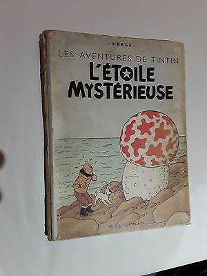 Ancienne BD Tintin L'étoile Mystérieuse B1 1946 Hergé Casterman