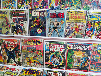 50 key wall book Marvel Bronze/Silver age lot Iron man 1 Cap 100 Submariner 1