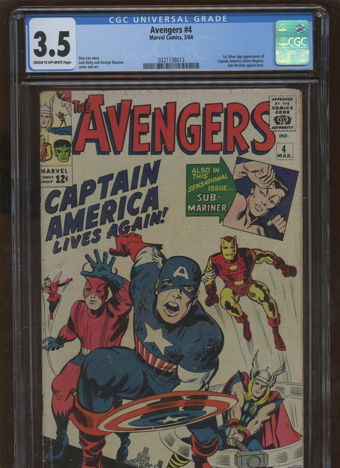 Avengers 4 CGC 3.5 VG * Marvel 1964 *   1st Silver Age Captain America