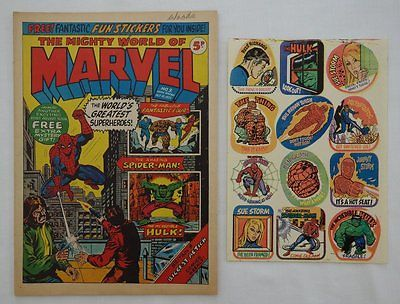 Mighty World of Marvel comic #3 - 21 Oct 1972 + FREE GIFT STICKERS (phil-comics)