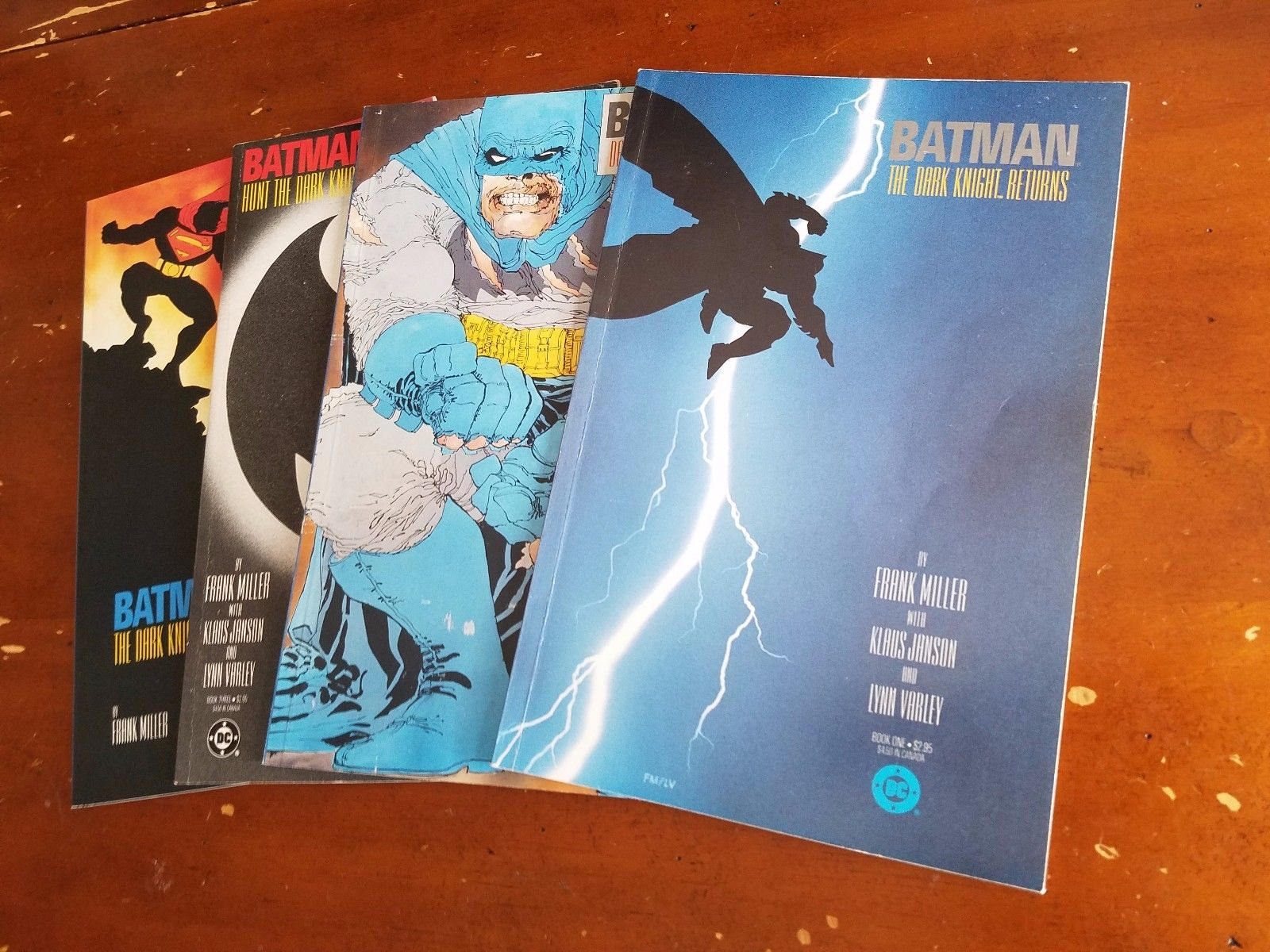 BATMAN the Dark Knight Returns 1-4 (1986) DC TPB Frank Miller complete set