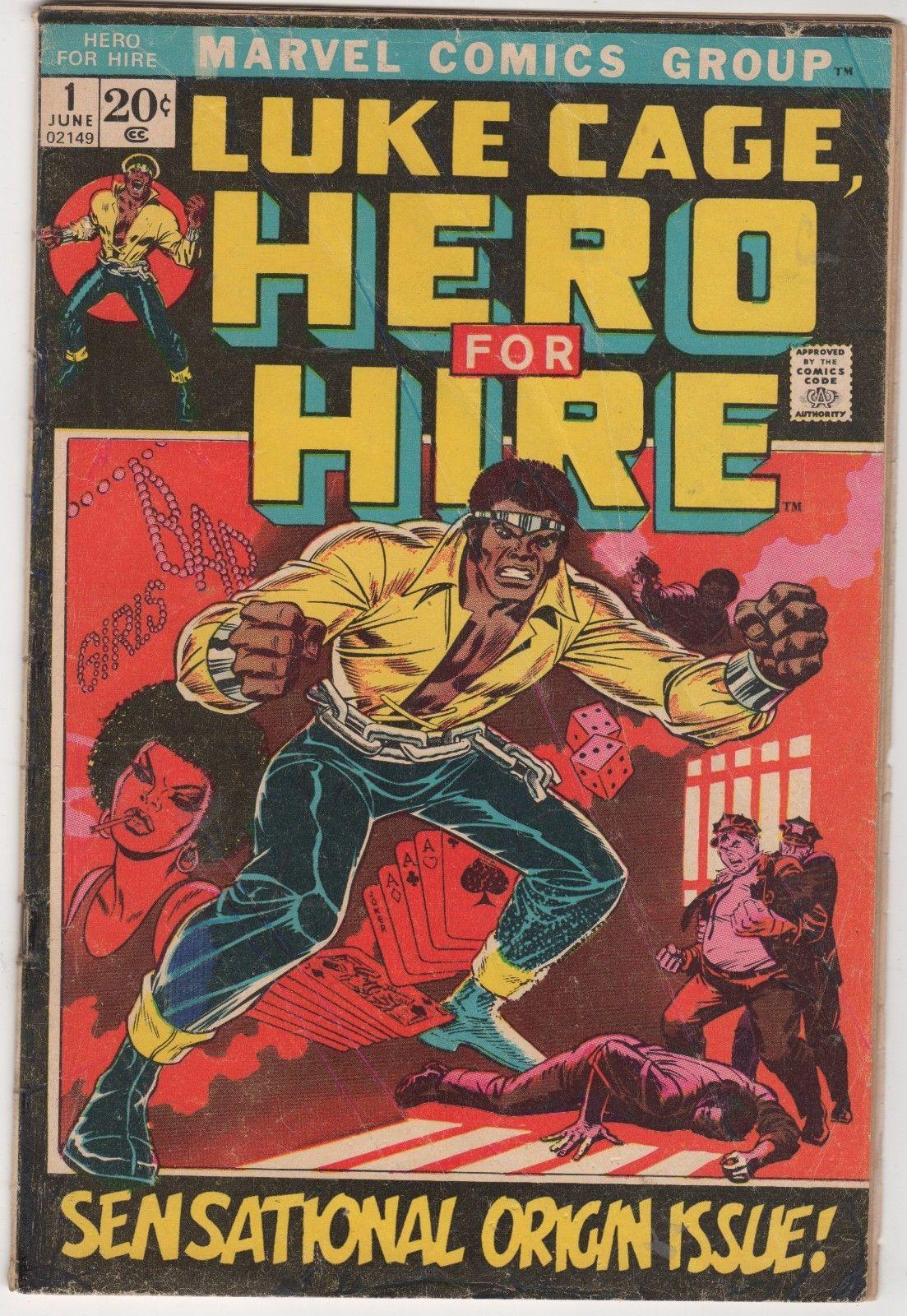 Marvel Comics LUKE CAGE HERO FOR HIRE #1 (June 1972) Origin Issue. WoW