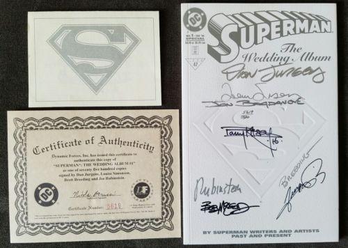 Superman: The Wedding Album Signed By Jurgens-Simonson-Breeding & Rubinstein COA