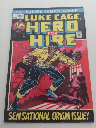 Luke Cage Here For Hire #1 Origin Issue Marvel Comics Nice