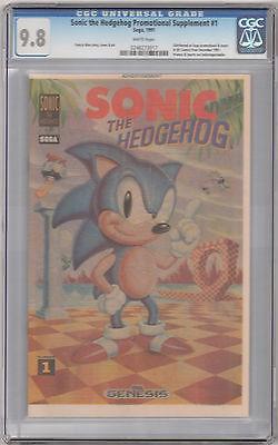 Comicsvalue Com Sonic The Hedgehog Promotional Supplement 1 Cgc 9 8 Nm Mt 1991 Sega Dc Comics Auction Details