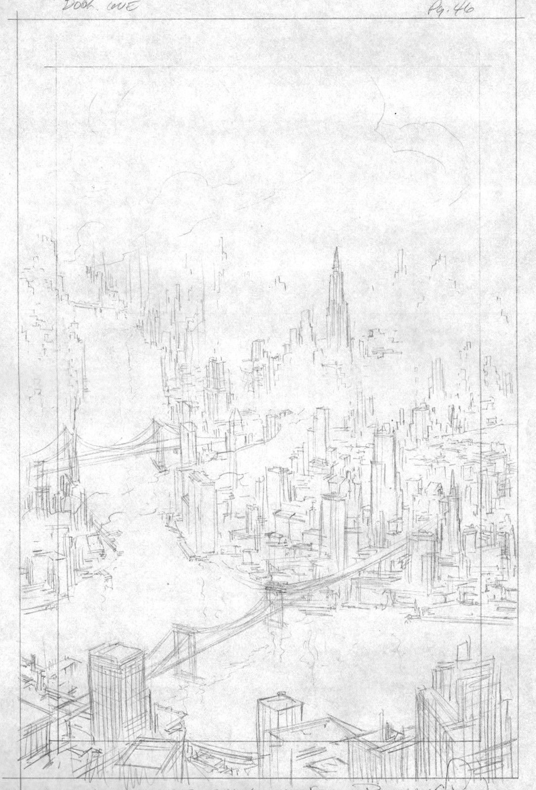 VERY RARE - BERNIE WRIGHTSON BATMAN: THE CULT ORIGINAL PENCIL ART