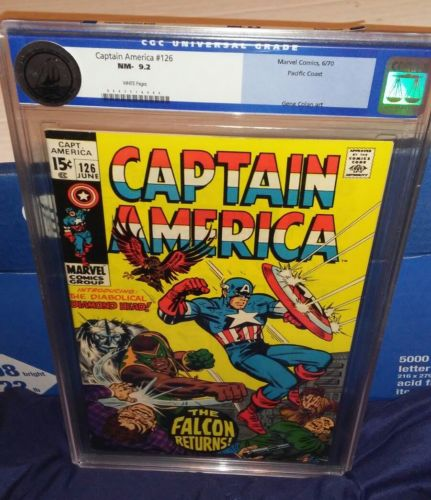 captain america 126 cgc 9.2 Pacific Coast iron man avengers thor hulk