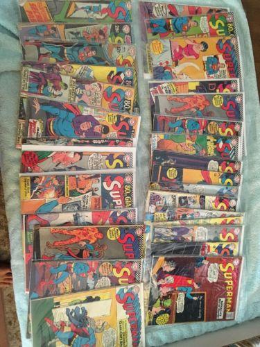 Superman Lot 27 Books 175 178 179 181-186 188-194 196-200 202 207 211 217 218
