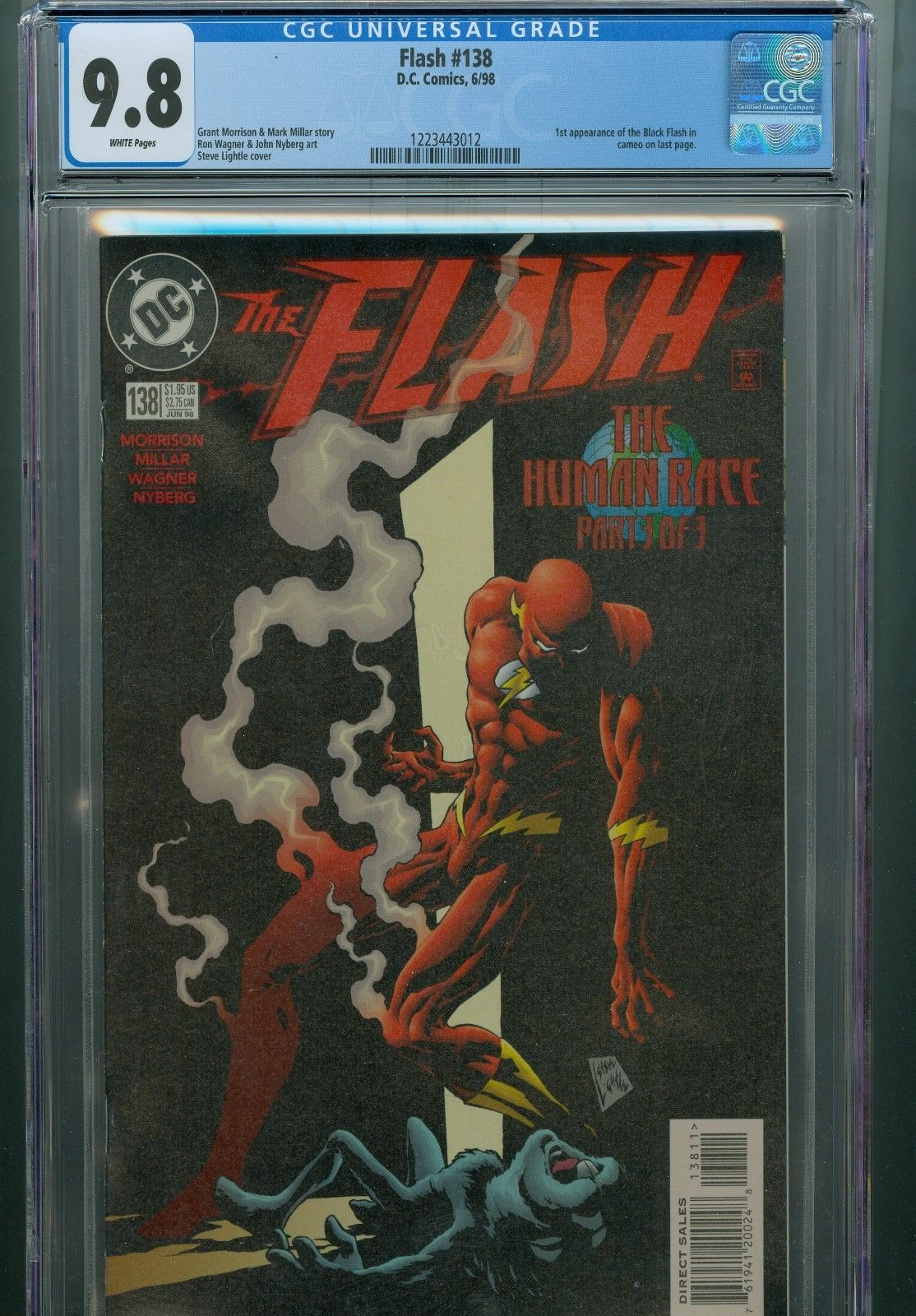 Flash 138 139 140 141 CGC 9.6 - 9.8 1st The Black Flash WB TV Show DC Wally West