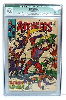 Avengers #55 (CGC Q 9.0) (1968, Marvel) 1st App Ultron