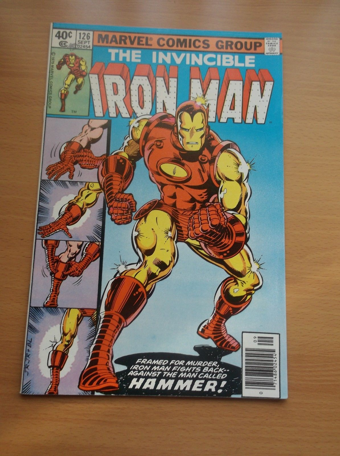 MARVEL: IRON MAN #126, CLASSIC STARK SUIT-UP AS IRON MAN COVER, 1979, VF/NM