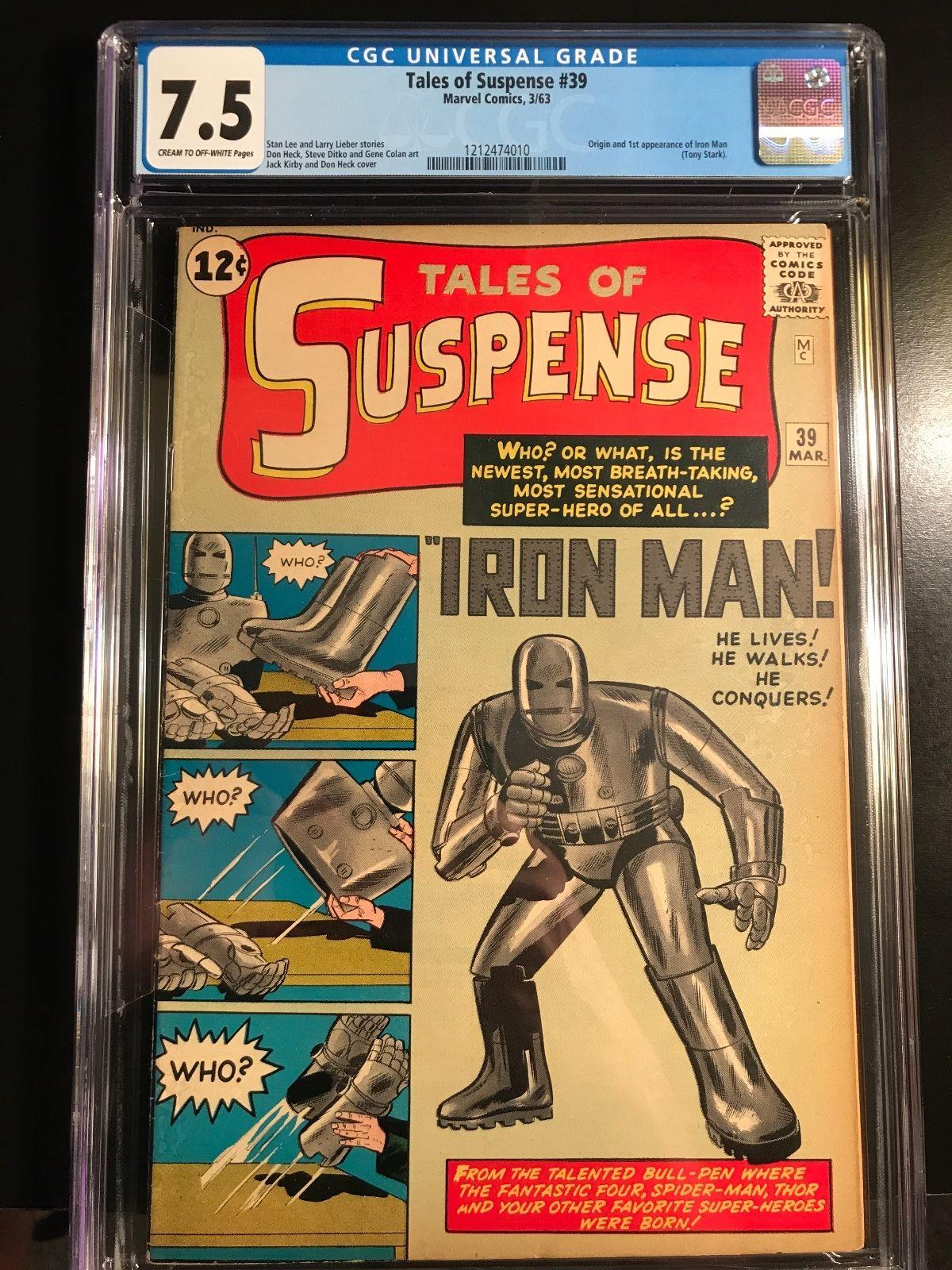 Tales of Suspense #39 (Mar 1963, Marvel) CGC grades 7.5 unrestored blue label