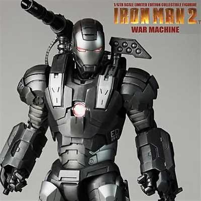 HOTTOYS HOT TOYS IRONMAN 2 IRON MAN WAR MACHINE MMS 120 MMS120 FIGURE ES AQ1252