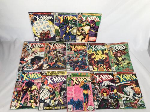UNCANNY X-MEN vol 1 1963-16 #132 133 134 135 136 137 138 139 140 141 142 143 Lot