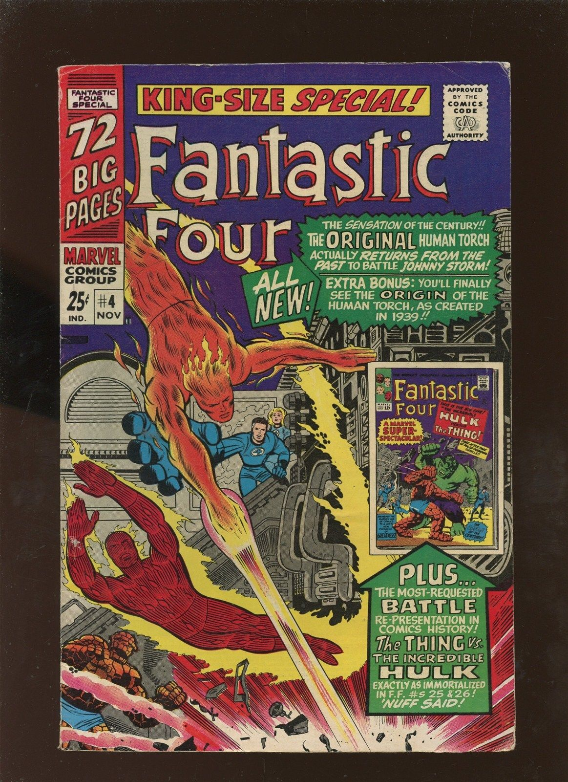 Fantastic Four Annual 4 FN 6.0 * 1 Book Lot * Origin Human Torch [Jim Hammond]