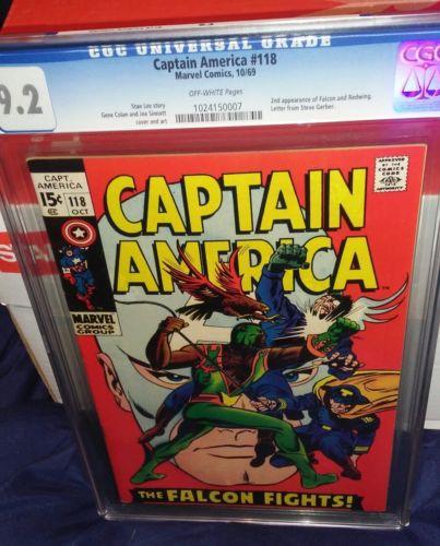 captain america 118 cgc 9.2 2nd Falcon iron man avengers thor hulk