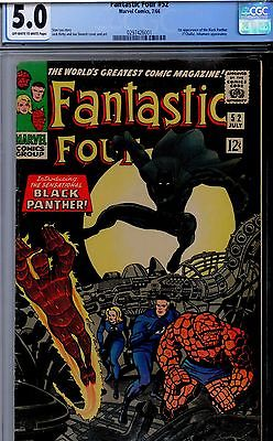 Fantastic Four  #52 CGC 5.0  First app. Black Panther - Silver-Age Marvel Key