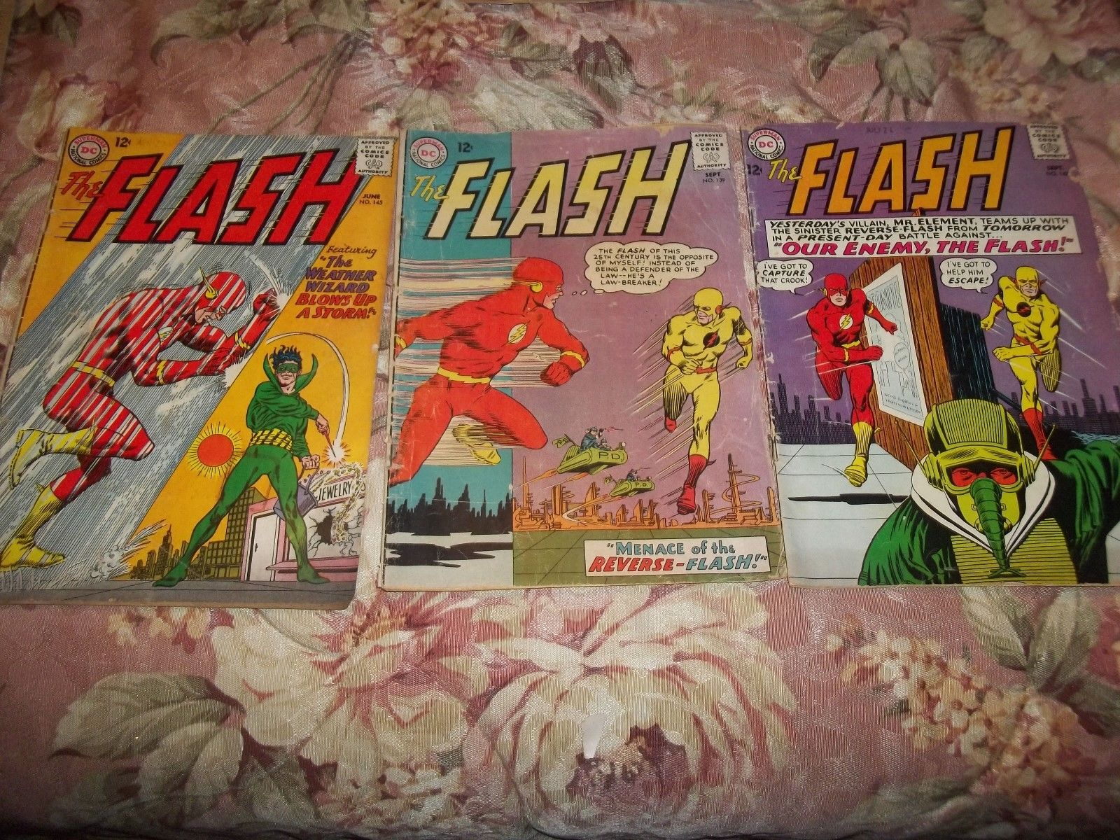 DC comics 1960's  The Flash  vol.1 #138 #142 #145