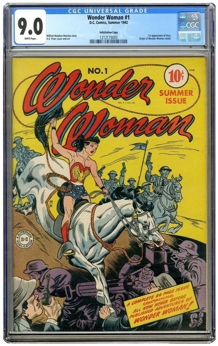 Wonder Woman #1 CGC 9.0 PERFECT WHITE PAGES #1 COPY IN THE WORLD CGC #1212173003