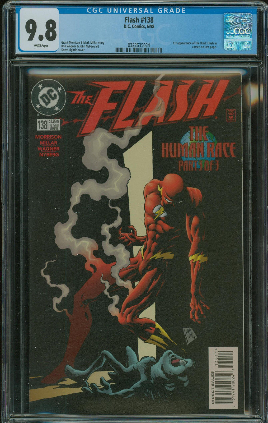 Flash #138 CGC 9.8 1st appearance of the Black Flash