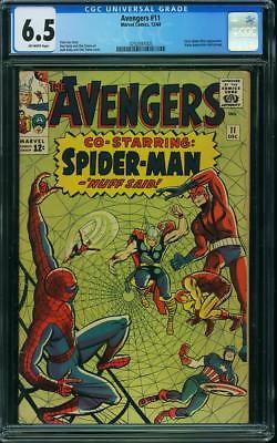 AVENGERS #11 CGC 6.5 Early Spider-Man app