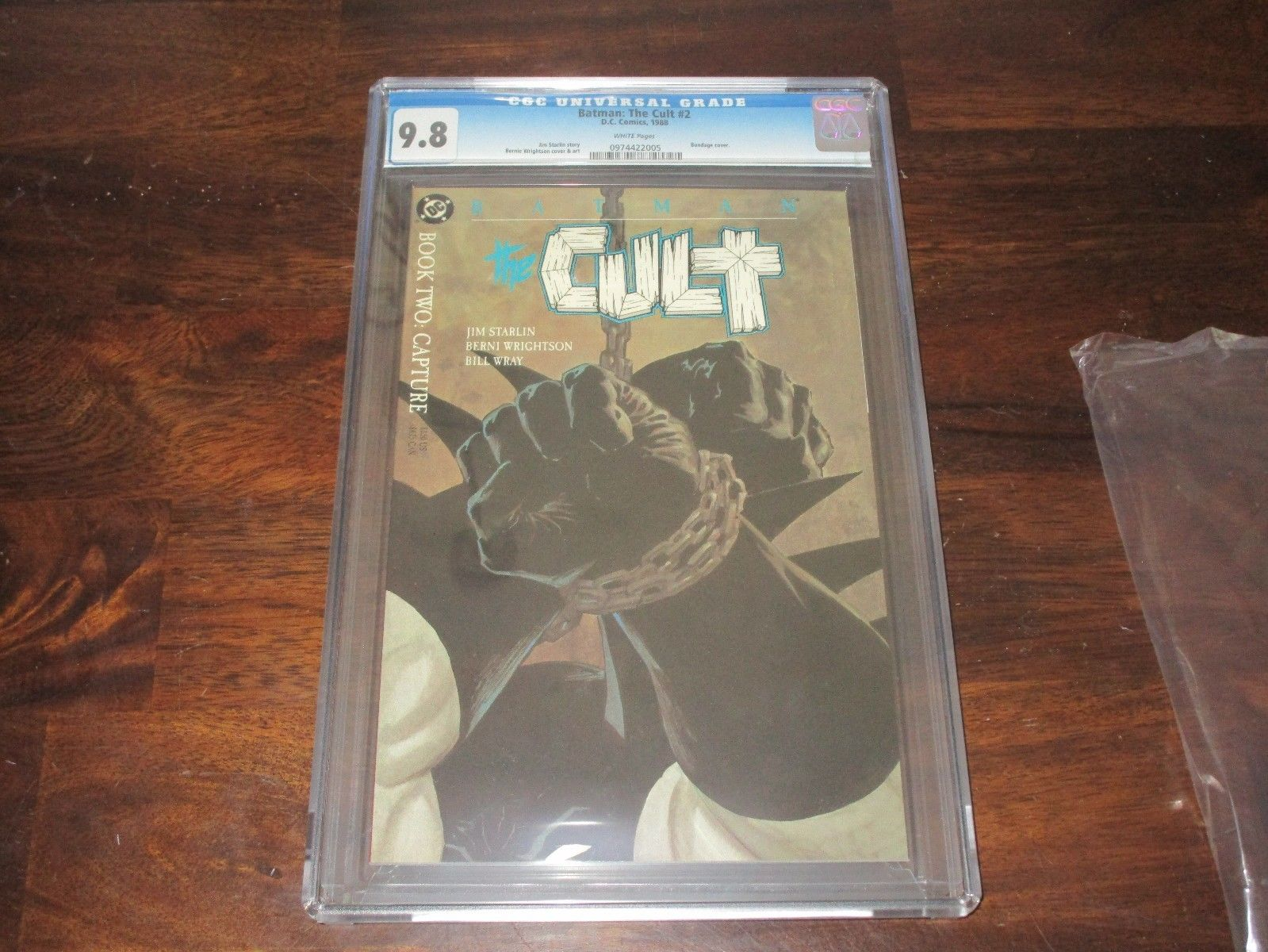 BATMAN THE CULT #2 CGC 9.8 JIM STARLIN BERNI WRIGHTSON BONDAGE COVER SWEET BOOK