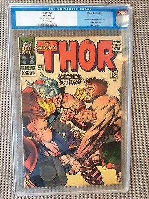 Thor #126 CGC 8.5 1966 1st Issue Avengers Iron Man Thor Hulk G8 120 cm