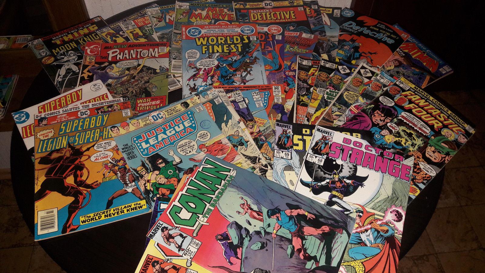 120 US Marvel und DC Bronze Age Comics (GD-VF) Batman Spider-Man JLA Superman