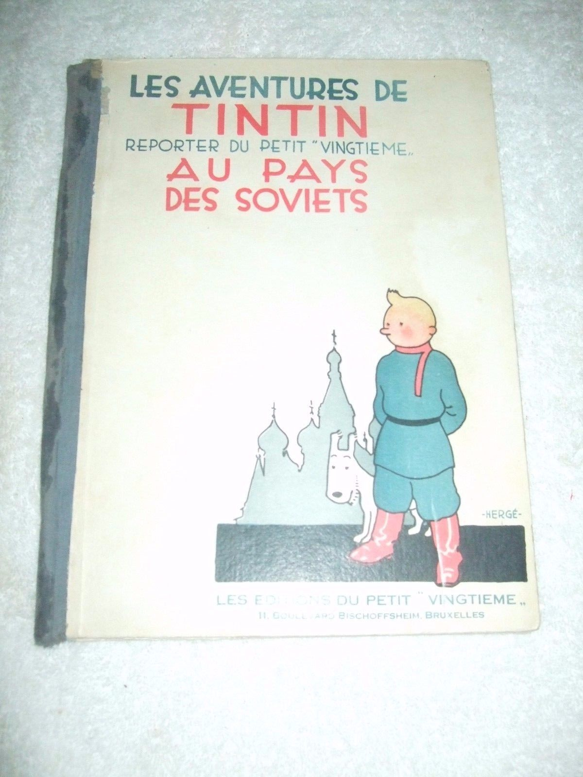 TINTIN au pays des soviets noir et blanc Etat moyen