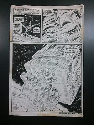 Avengers original art page - Bob Brown & Mike Esposito from #122 (1974) Iron Man