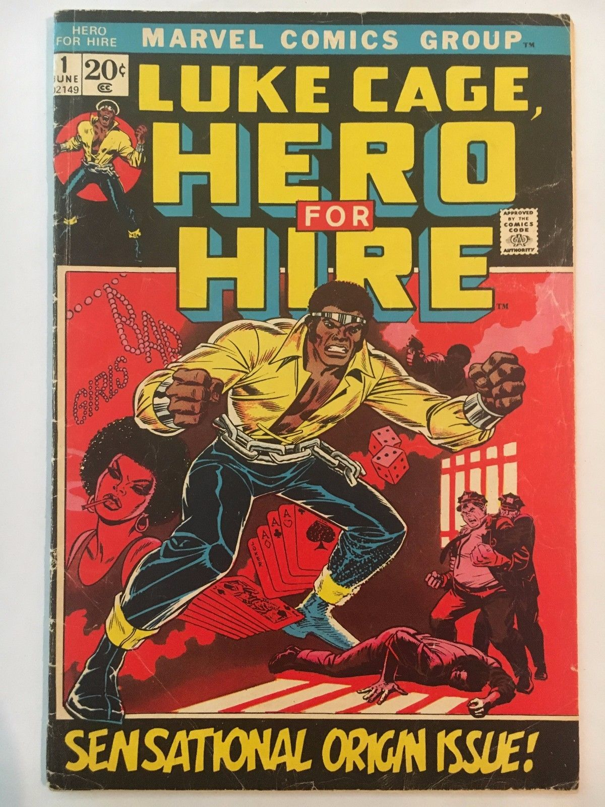 Luke Cage,  Hero for Hire #1 (Jun 1972, Marvel) Origin Issue