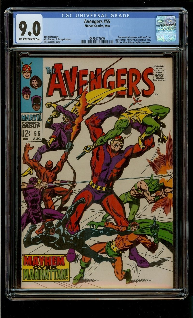 AVENGERS #55 (CGC 9.0)  1st ULTRON  Black Panther 1968 Bright Glossy VF/NM n1581