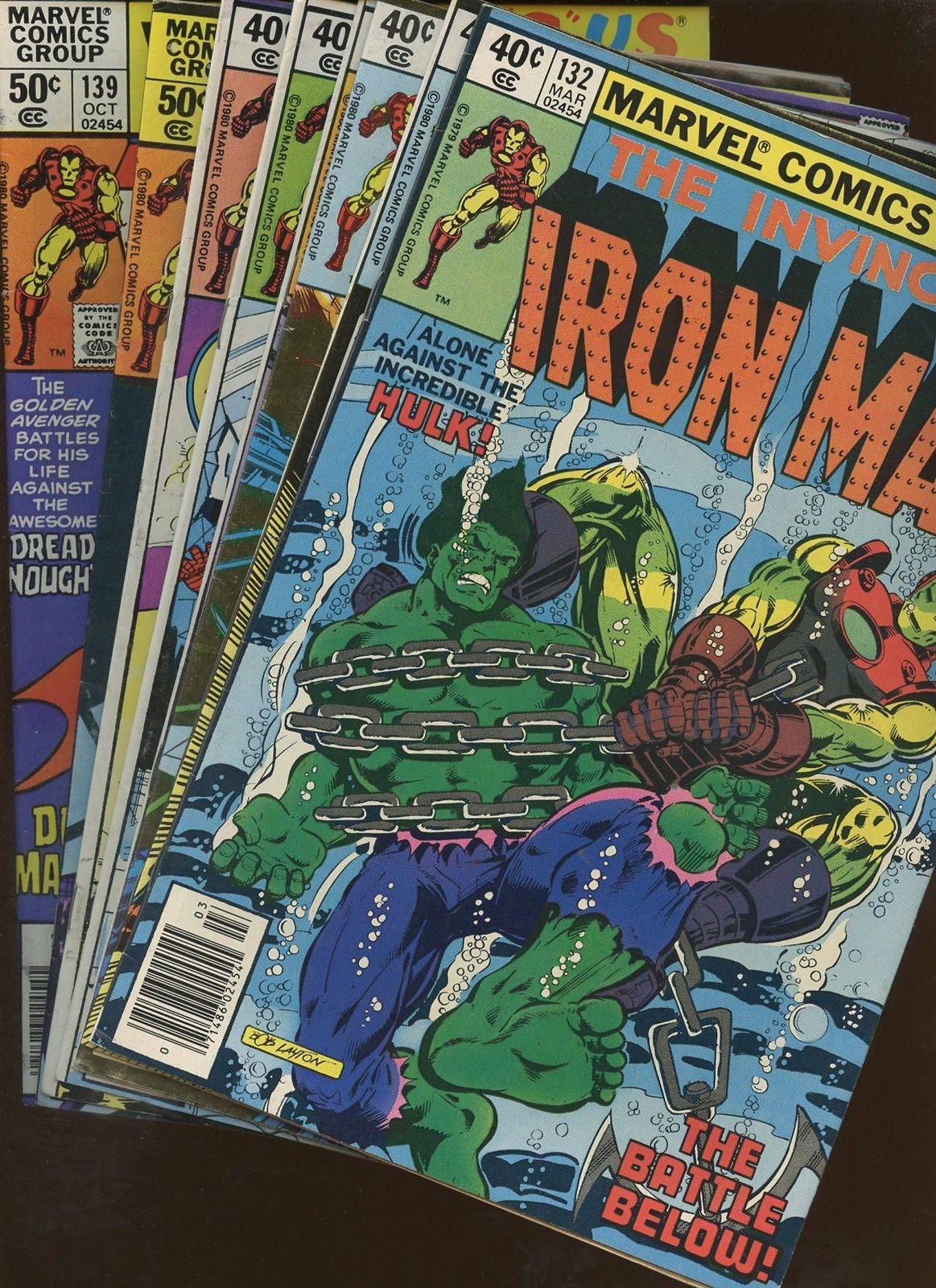 Iron Man 132,133,134,135,136,137,138,139   8 Book Lot *