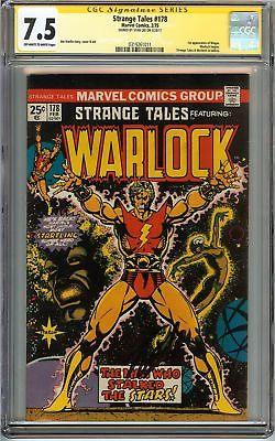 Strange Tales #178 CGC 7.5 VF- SIGNED STAN LEE 1st Magus WARLOCK Marvel Comics