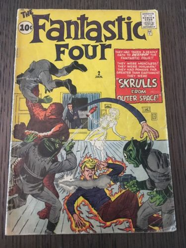Fantastic Four #2 First app of the Skrulls Silver Age 2nd Fantastic Four 2.5-3.0