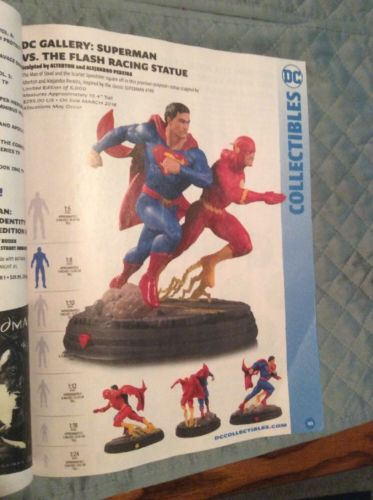 DC GALLERY:SUPERMAN VS.THE FLASH RACING STATUE PRE SALE.