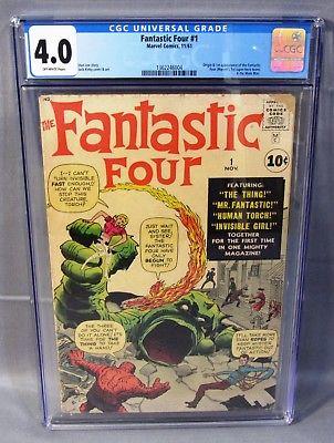 FANTASTIC FOUR #1 (Origin & 1st app of team) CGC 4.0 VG Marvel Comics 1961