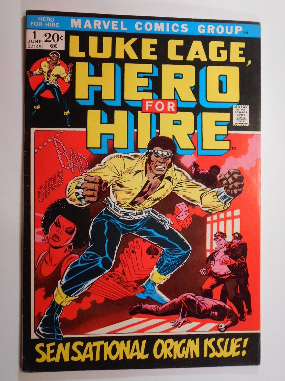 LUKE CAGE, HERO FOR HIRE 1 (Marvel 1972) KEY #1 Origin Issue / Power Man Netflix