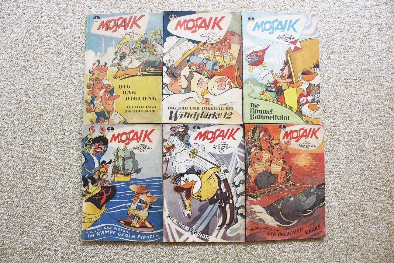 Mosaik Hefte Nr. 1 bis 229 komplett und Original aus der Zeit