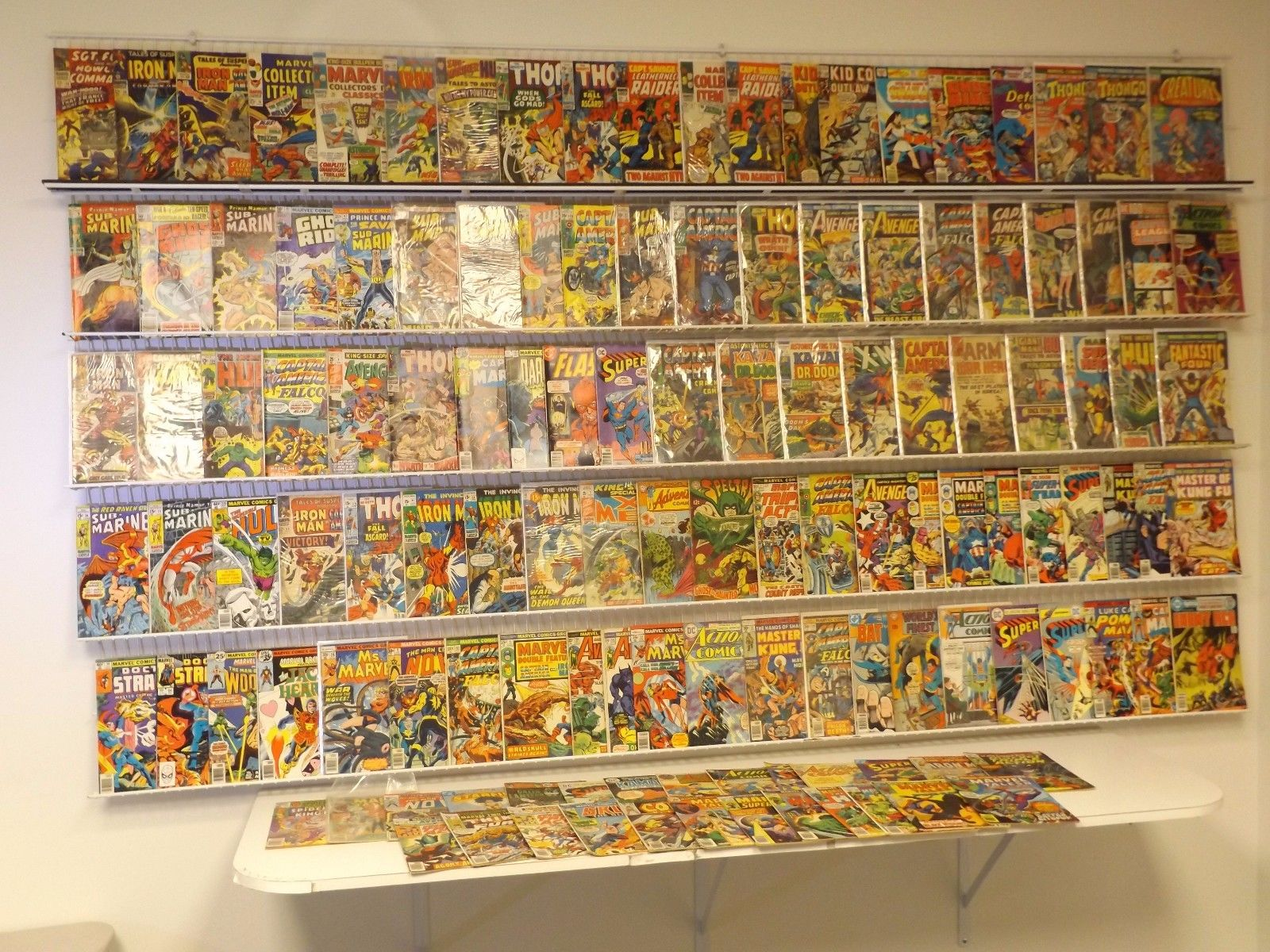 120 Silver/Bronze comics Sub-Mariner, Iron Man, Captain America, Avengers & more